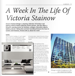 Victoria Stainow - In Design Magazine